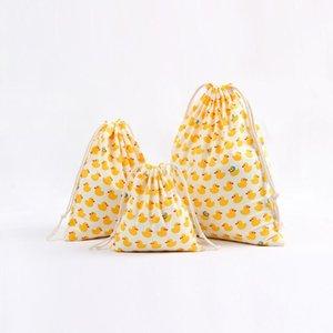 Freedhlchristmas Geschenk Tasche Baumwolle Leinen Leinwand Kordelzug Sack Taschen mit Weihnachtsbananen Kokosnuss Wassermelone Ananas Früchte für Geschenke EWD2725