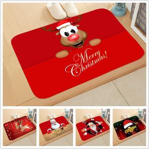 Decoración de Navidad para Navidad casera Mat al aire libre de la alfombra Felpudo ornamento de Santa Año Nuevo 2021 Navidad Deco Noel Kerst