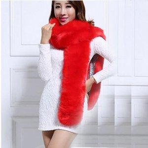 De nouvelles femmes automne et en hiver accessoires Lady fausse fourrure longue écharpe de lapin élégant tempérament châle filles de couleur bonbons en peluche foulards
