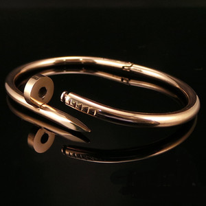 Classic Charm mens nail bracelet gold no diamond Bangle Love for christmas gift with box fashion jewelr
