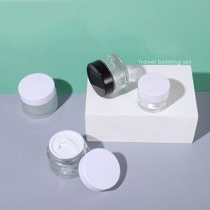 5G 10G 15G 20G 30G 50G 100G прозрачный матовый кремовый стеклянный банок контейнер для стеклянных косметических банок с пластиковой крышкой