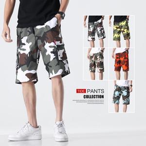 2020 Fashion Casual Men's Camo Cargo Shorts Beach Board Half Pants Men Oversized Short Pants Camouflage Streetwear Shorts M-8XL