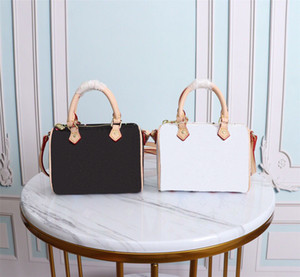 2020 Hot Original designer saco de alta qualidade NANO SPEEDY bolsas de couro genuíno preto e branco saco de cor ombro matiz crossbodys mini-saco