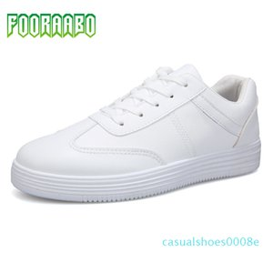 2019 Autumn New Casual Shoes Mens Leather Flats Oxfords Lace-Up Shoes Fashion PU Leather Breathable Comfortable Sneakers 10T