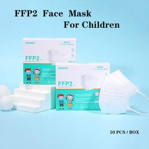 Masque FFP2 pour enfants CE Certificat masque anti-poussière épreuve anti-poussière Respirant 5 couches Protection masques de protection mode réutilisable Masques de bouche civile réutilisable
