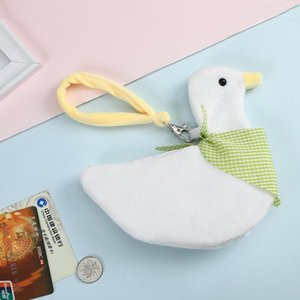 Duck Coin Purse Fur Mini Kids Lovely For Wallet Plush Holder Case Girl1 Key Organizer Pocket Clutch Card Headphone Skegr