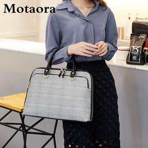 Bolsa de mujer de Motaora Bolsas de hombro de moda para mujer Bolsa de maletín de cuero para 14 pulgadas Laptop Handbag Ladies A4 Documento de almacenamiento