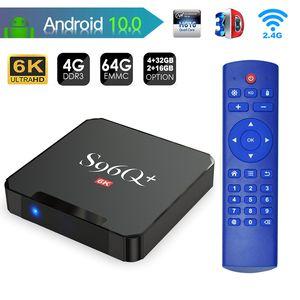 جديد وصول S96Q زائد أندرويد 10.0 صندوق التلفزيون H616 4 جيجابايت 32 جيجابايت 64 جيجابايت 6 كيلو تعيين أعلى مربع v x96q x96 مصغرة tx6s