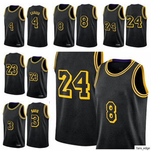 Los Angeles 23 King Lbj Jersey di basket Alex Caruso Black Mamba Maglie Anthony Kyle Davis Kuzma Retro New City Uniform Uniforme