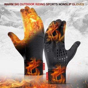 Warm Winter Gloves Motorcycle Scooter Gloves Sports Waterproof Nonslip Gloves Thermo Handschoen Fiets Handschoenen Winter W@