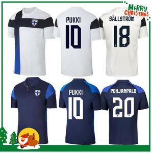 2020 Finlandia Soccer Jerseys New Pukki Skrabbs Raitala Jensen Lod Home Camicia da calcio Bianco Camicia a manica corta Adult Uniformi adulti