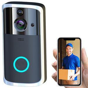 الذكية الجرس HD كاميرا لاسلكية واي فاي نداء إنترفون فيديو العين شقق الباب الدائري بيل للهاتف المنزل كاميرات الأمن