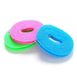 Winddicht 3m / 5m Kleiderbügel Seil Outdoor Einstellbare Festigkeit Anti Rutsch Wäscheleine Nylon Dauerhafte Waschlinie VTKY2334