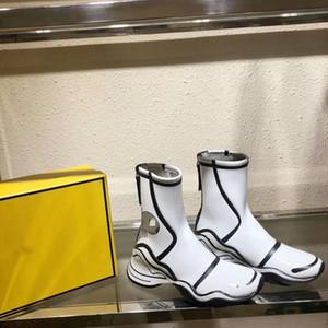 design en cuir F maison en Californie Sky bottines peintes à la main avec une course noir blanc semelle épaisse, des bottes de dessin animé, fermeture éclair