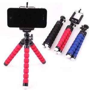 360 Rotation Flexible Sponge Tripod Lazy Cell Phone Holder Clips Bracket Selfie Stand Mount Monopod Camera DV Holder for Iphone Selfie Clip