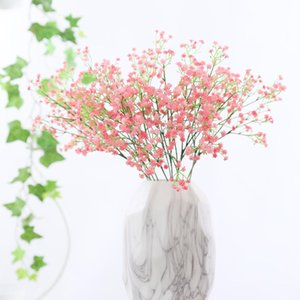 Colorfull Artificial Gypsophila Soft Silicone Real Touch Flowers Artificial Gypsophila for Wedding Home Party Festive Decoration BEF2430