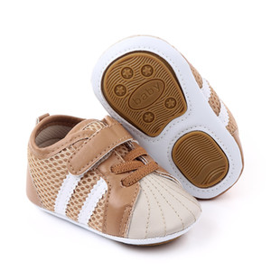 Zapatos de bebé Newborn Boys Girls First Walkers Infants Antislip Zapatos Casuales Zapatillas de deporte 0-18 Montones