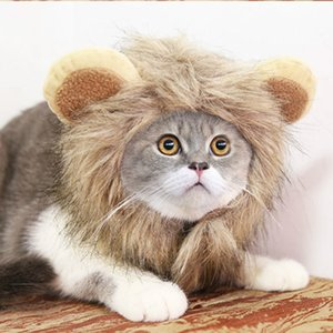 Cute Lion Mane Costume hat for Cat cat Costume Lion Hair Halloween Christmas Easter Party Cosplay Parties Accessories will and sandy