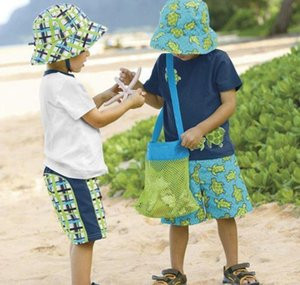 Wholesale- Applied Enduring Children Sand Away Beach Mesh Bag Children Beach Toys Clothes Towel Bag Baby Toy Collec bbyvnM warmslove