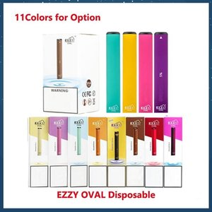 Ezzy OVALE monouso Dispositivo Pod Starter Kit Upgraded 280mAh Batteria 1.3ml cartucce Vape VS Puff bar oltre Bidi bastone