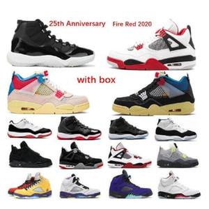2021 Corte Púrpura Bajo UNC 11S Criado 11 Concord 11 Zapatos de baloncesto Brow Brool Bajo Con Box Snerkers Hombres Espacio Atasco