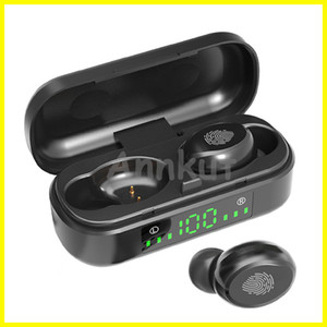 TWS 5.0 Earbuds,Wireless Bluetooth V8 Touch Control Waterproof Headphone Noise Canceling Wireless Earbuds LED Display Sports Headset