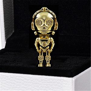 2020 New 925 Sterling Silver C-3PO Charm Bead Fits European Pandora Jewelry Bracelets & Necklaces