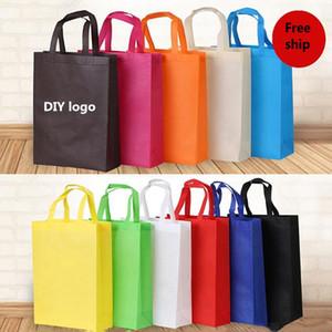 حقائب فارغة غير المنسوجة حقيبة قابلة لإعادة الاستخدام حقيبة تسوق 3 الأبعاد العلامة التجارية الإعلان هدية ترويجية قبول شعار مخصص الطباعة WY864