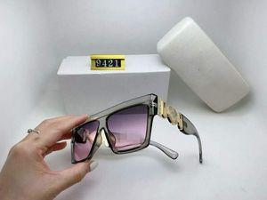 2021 Аутентичные поляризационные солнцезащитные очки 9421 Женщины Мужчины Бренд Дизайнер УФ Защита Солнцезащитные очки Освещенные объективы Олиц-очки