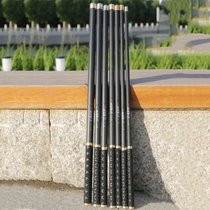 High Quality Carbon Fiber Telescopic fishing rods Power Hand Pole 2.7M-10M ultra light hard freshwater carp stream rod 201022