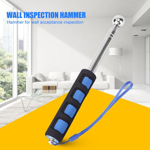 Extendable Detection Stainless Steel Wall Test Thickening Home House Wall Check Empty Drum Hammer Inspection Tool