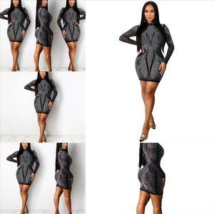 Cnqf femmes imprimé gaine robe sexy robe courte casl robe manches chaudes perçantes rond vintage oport