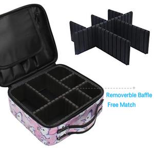 Deanfun Unicorn Makeup حالة متعددة الوظائف حقيبة مستحضرات التجميل السفر المنظم حالات قطار مع مقسمات قابلة للتعديل 16001 LJ201008