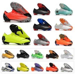2019 Mens Low Mercurial Superfly VI 360 Vapor XII Elite 12 FG 6 CR7 Ronaldo Neymar Soccer Football Shoes 98-2014 20th YEARS OF SPEED