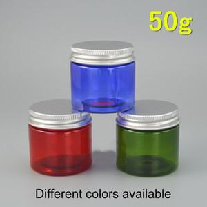 50 g de frascos de plástico vacíos recargas recargables de cosméticos maquillaje crema píldora de la píldora de café pequeña botella clara verde azul marrón 1.8zfree Shippin