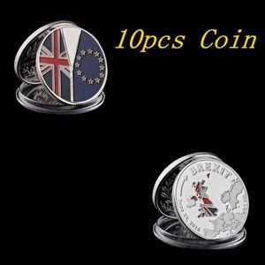 10pcs International Badge Souvenir 2016 UK Brexit Vote Independence Silver Plated Commemorative Coins