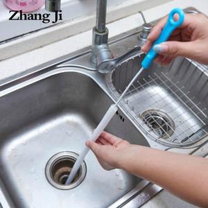 Zhangji Kanalizasyon Temizleme Fırçası 71 cm Esnek Mutfak Banyo Lavabo Boru Temizleyici Epilasyon Araçları Çelik Araştırma Kanalizasyonları PP Handlo1