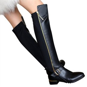 MORAZORA 2020 New genuine leather boots buckle zipper knee high boots autumn winter stratch women boots fashion shoes female J1220