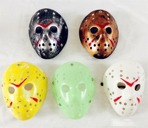Vintage Masquerade Masks The 13th Horror Movie Jason Skull Face Mask Scary Halloween Costume Cosplay EVE Party Decor Props 3 7rh ZZ