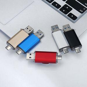 Hotsale OTG USB флэшки Тип C Pen Drive 128GB 64GB 32GB 16GB USB Flash Drive 3.0 High Speed Pendrive для Type-C устройства