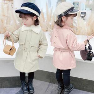 DFXD Çocuk Kış Pamuk yastıklı Trençkot İngiltere Stil Uzun Tek Breasted Kalın ceketler Moda Çocuk Dış Giyim 2-7Yrs Isınma