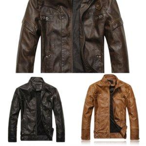 Kms jackets couro patchwork couro homens outono designer moda casacos roupas outerwear stand gola casaco pu homens macho homens