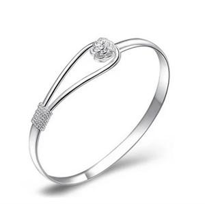 Romantische Blume Schmuck Perlen Armband Silber Überzogene Armband Mode Kette Armband Blume Kopf Kirschblüten Wrap Kette 1 8AS G2B