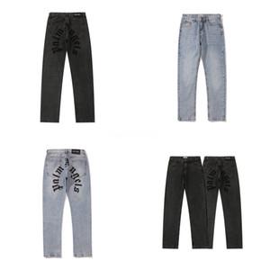 Mens Stripe Denim Jeans Casual Biker Slim Straight Pants Men Blue Splice Jeans 38 40 Plus Size, 1018#347