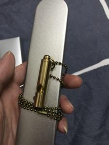 Retro Copper Life Whistle Keychain Competição de Treinamento de Pingente com Colar