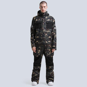 2020 Winter Sports Snowboard Skiing Suits Thermal One-piece Snowboarding Clothes Waterproof Windproof Warm Ski Jackets Pants