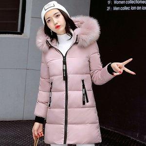 STAINLIZARD Winterjacke Frauen warme beiläufige mit Kapuze lange Parkas Frauen Mantel Street Baumwolle weiß weibliche Jacke outwear neue 201019