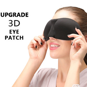 2020 Brandnew Upgrade 3D Sleep Eye Mask Good Shading Stereo Eye Cover Sleeping Mask Travel Rest Eye Band Eyepatch Blindfolds