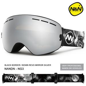NANDN ski goggles snowboard double layers UV400 anti-fog big ski mask glasses skiing Q0107