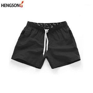 HENGSONG Summer New Man Briefs Mid Waist Beach Short Pants Straight Drawstring Surf Shorts Four Colors S-2XL Briefs Men1